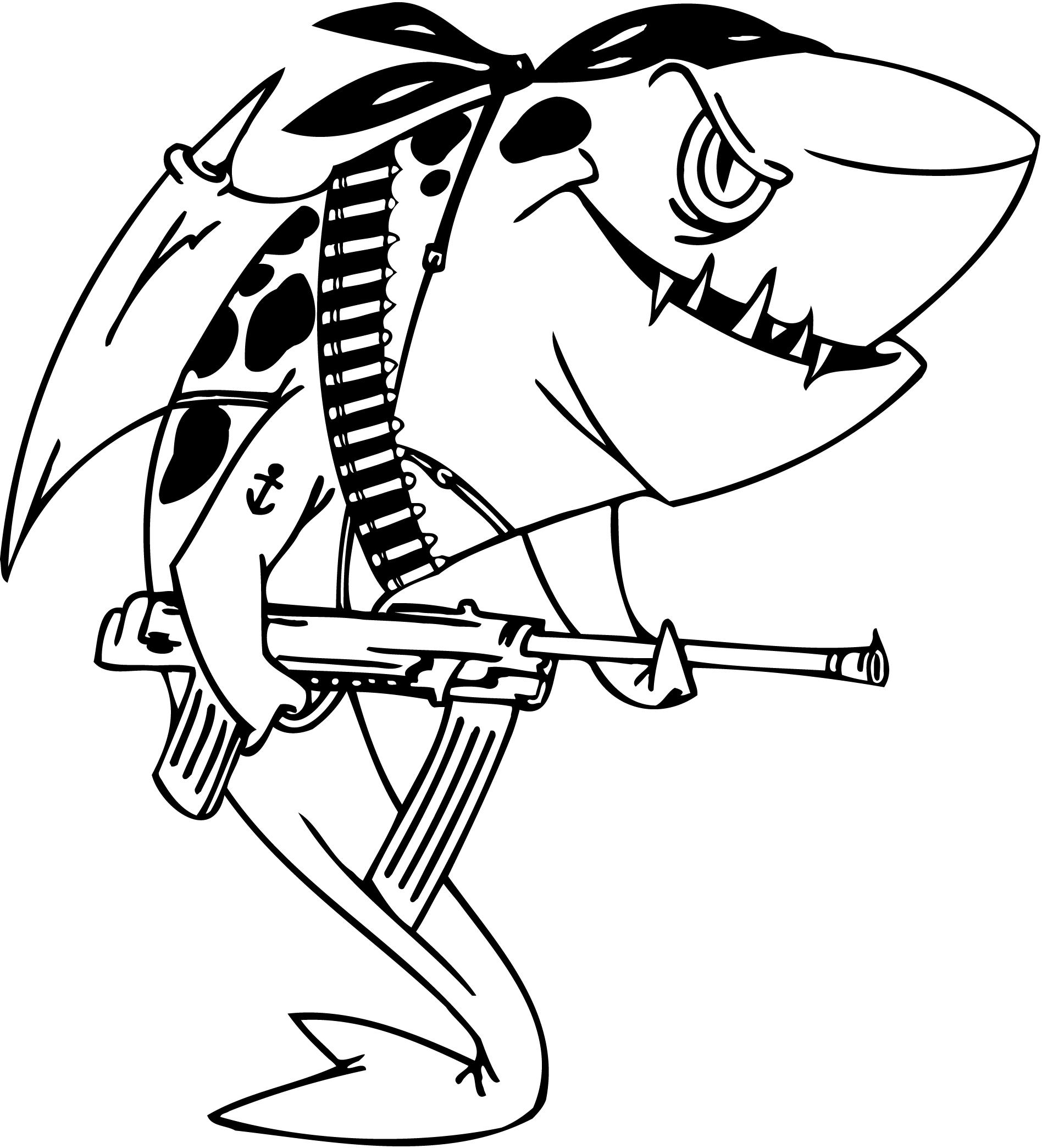 shark coloring pages clipart panda free clipart images