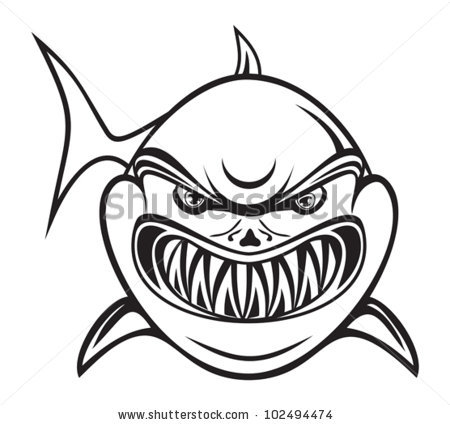 Shark Clipart Black And White | Clipart Panda - Free Clipart Images