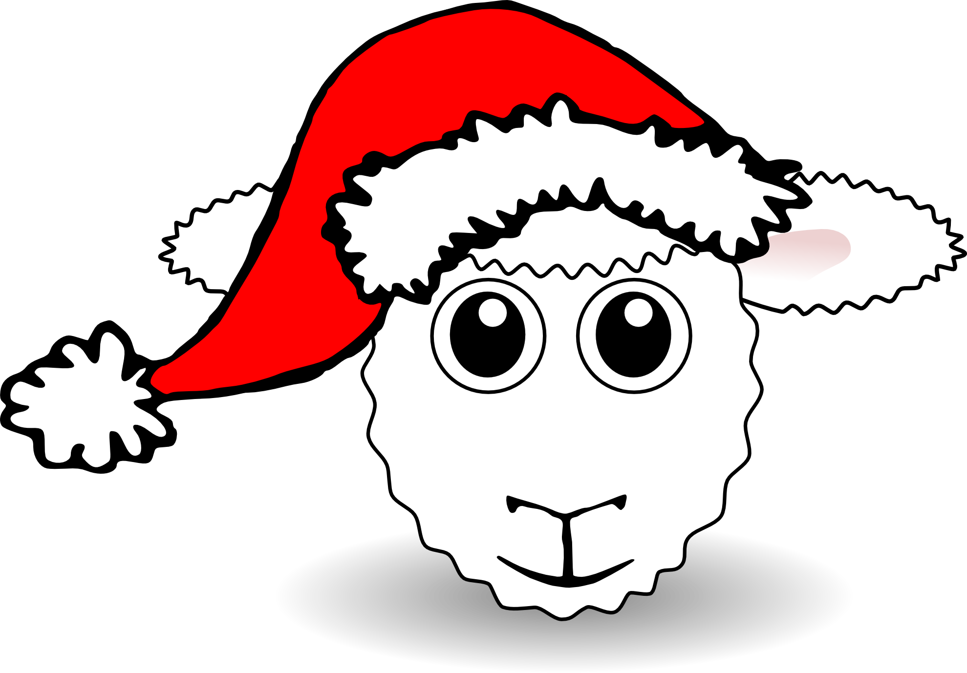The gallery for -- Lamb Head Clipart Black And White