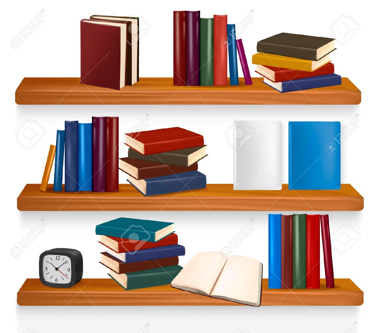 Bookshelf Clipart - More information