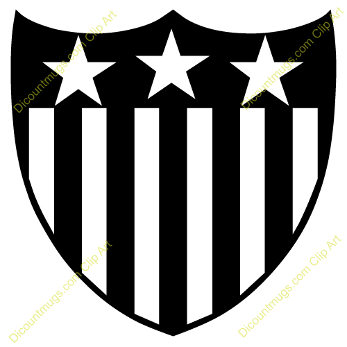 Stripes Shield Clip Art. | Clipart Panda - Free Clipart Images