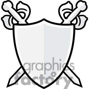 sword and shield black and white clipart panda free clipart images