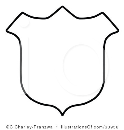Shield Clipart Black And White