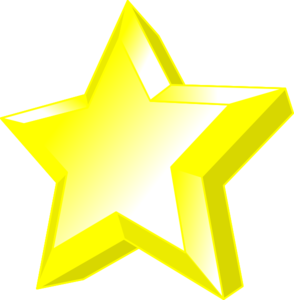 Shining Gold Star Clipart | Clipart Panda - Free Clipart Images