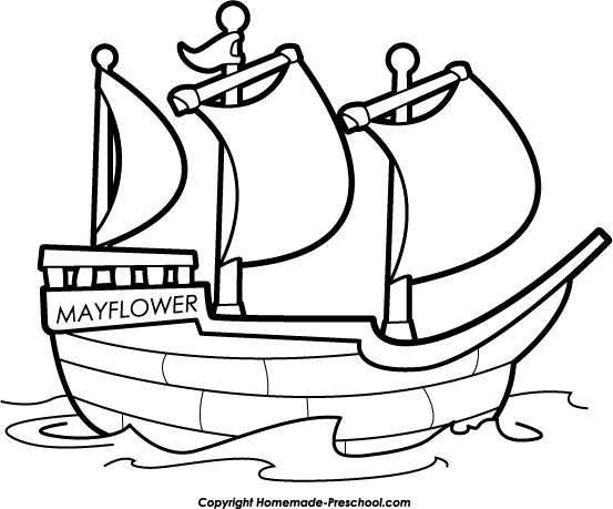 mayflower compact coloring pages - photo#13