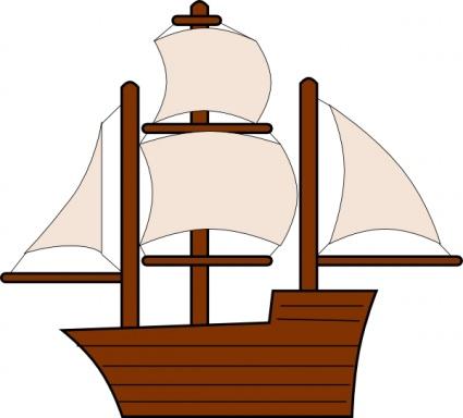Colonial Ship Cartoon Ship clip art