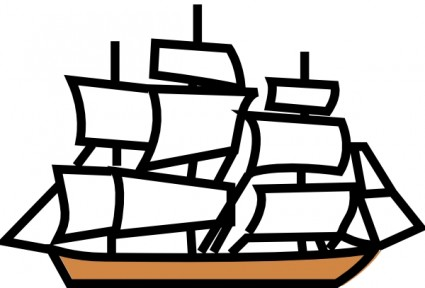 Pirate Ship Free Vector / | Clipart Panda - Free Clipart Images