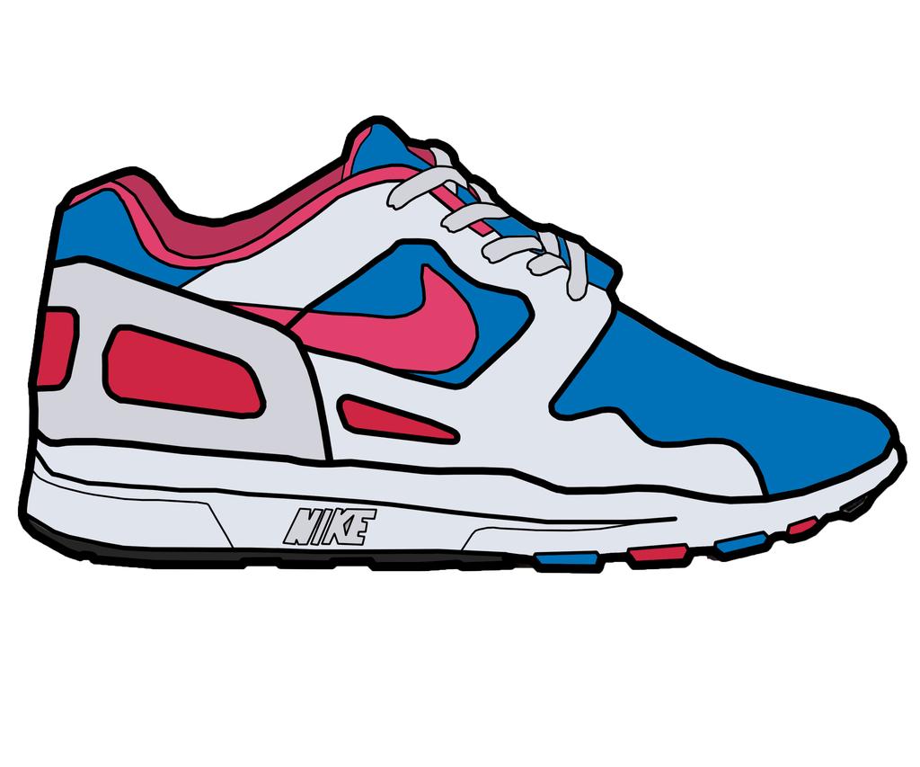 Drawing Of A Nike Shoe