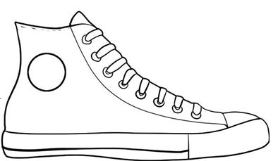 all star shoes coloring pages - photo#26