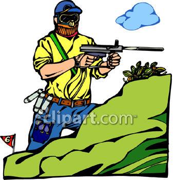 Guy Shooting A Paintball Gun Clipart Panda Free Clipart Images
