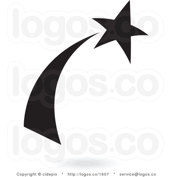 shooting%20star%20clipart%20black%20and%20white