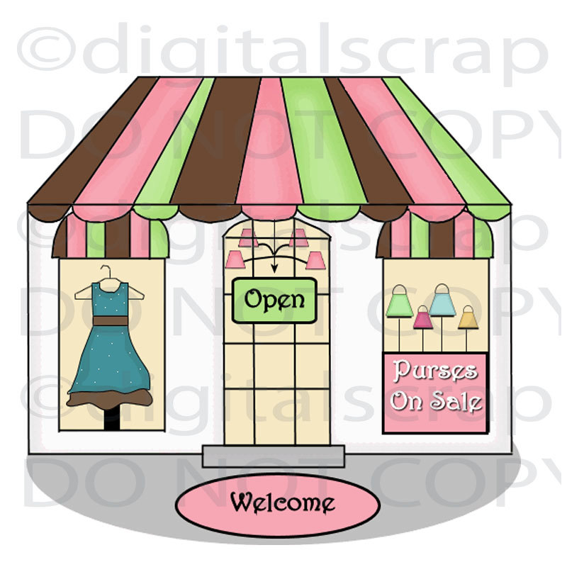 Clip art clothing store