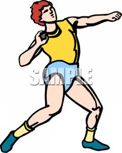 Shot put throw clip art