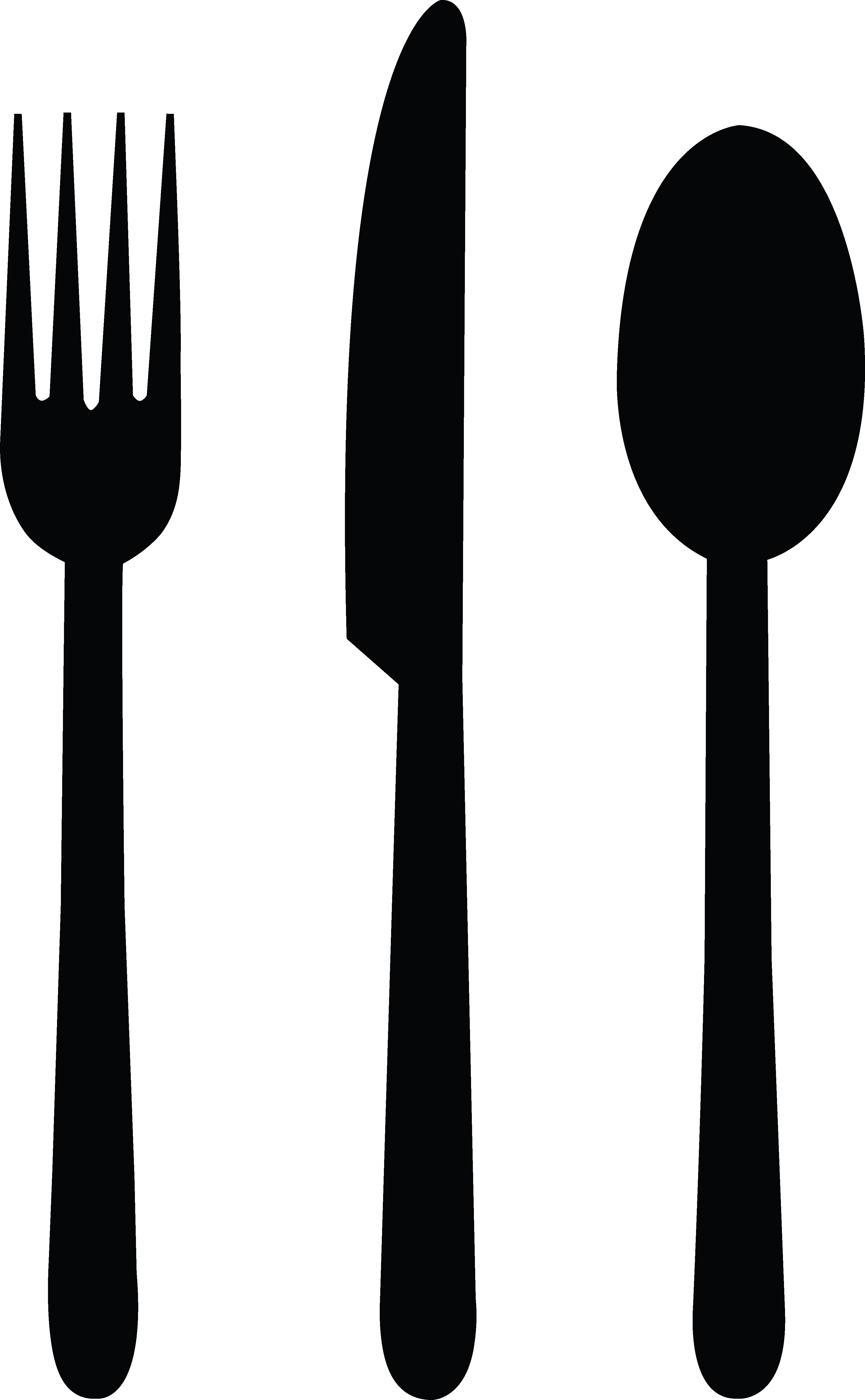Line Drawing Knife And Fork : Silverware clipart panda free images