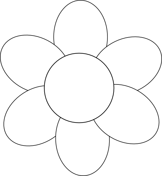 Flower Petals Line Drawing : Simple black and white sunflower drawing clipart panda