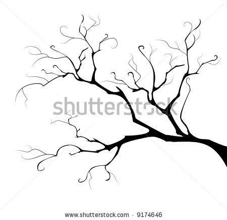 -white-tree-branches-stock-vector-black-silhouette-of-the-branch-tree ...