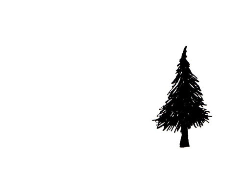 Simple Black And White Tree Drawing | Clipart Panda - Free ...