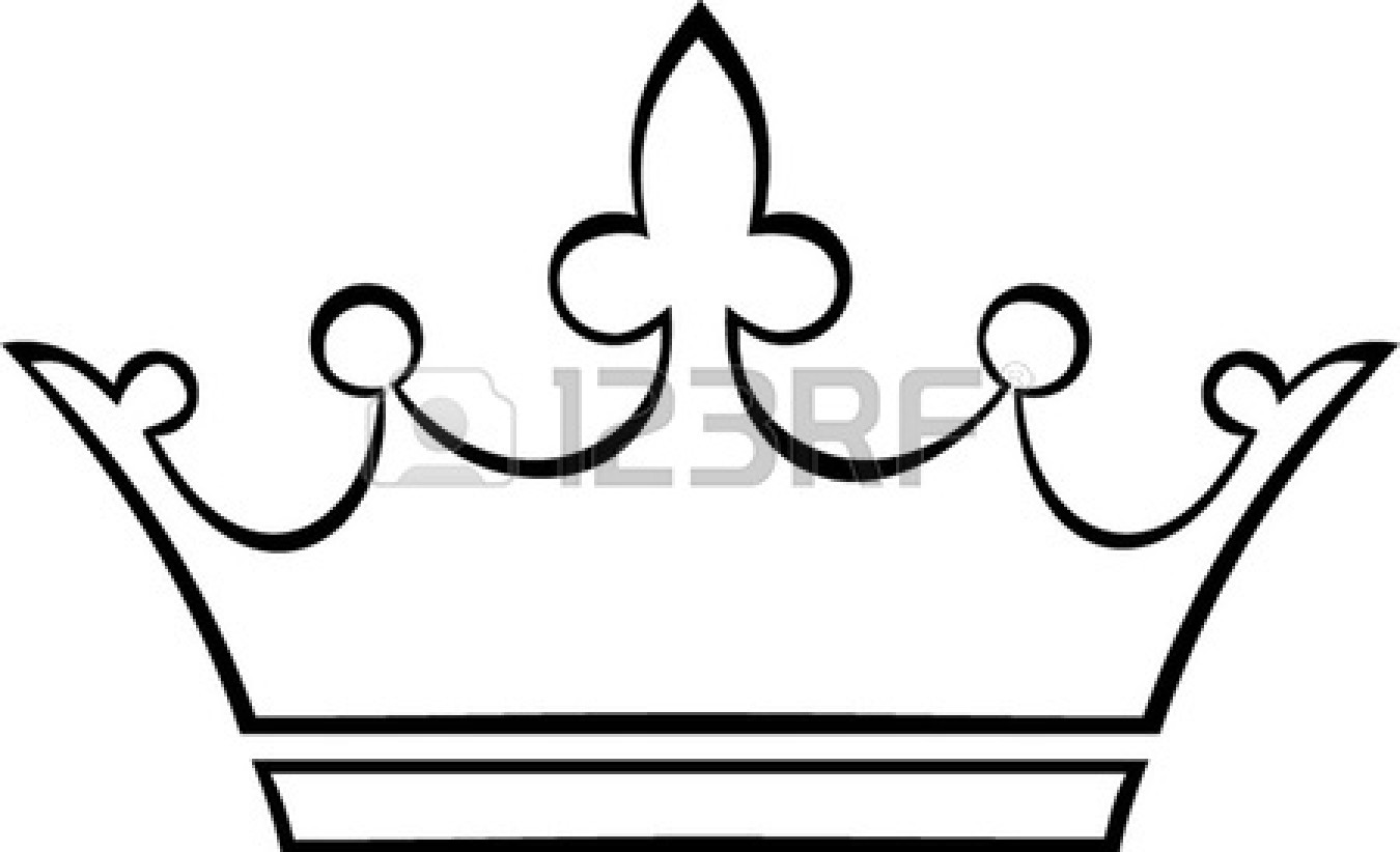 Simple king crown outline - photo#1