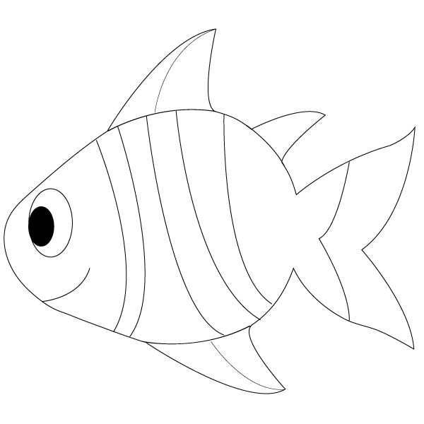 Simple Fish Line Art : Simple fish outline clipart panda free images