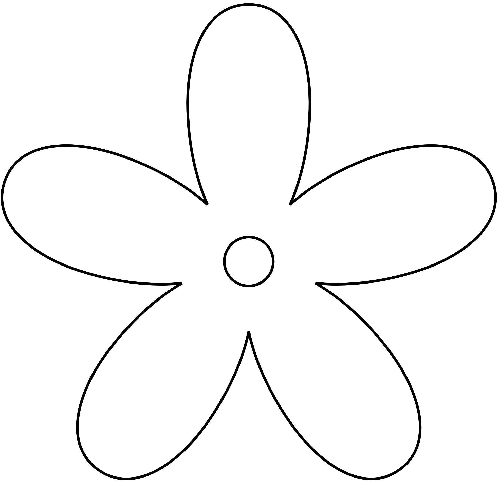 simple%20flower%20clipart%20black%20and%20white