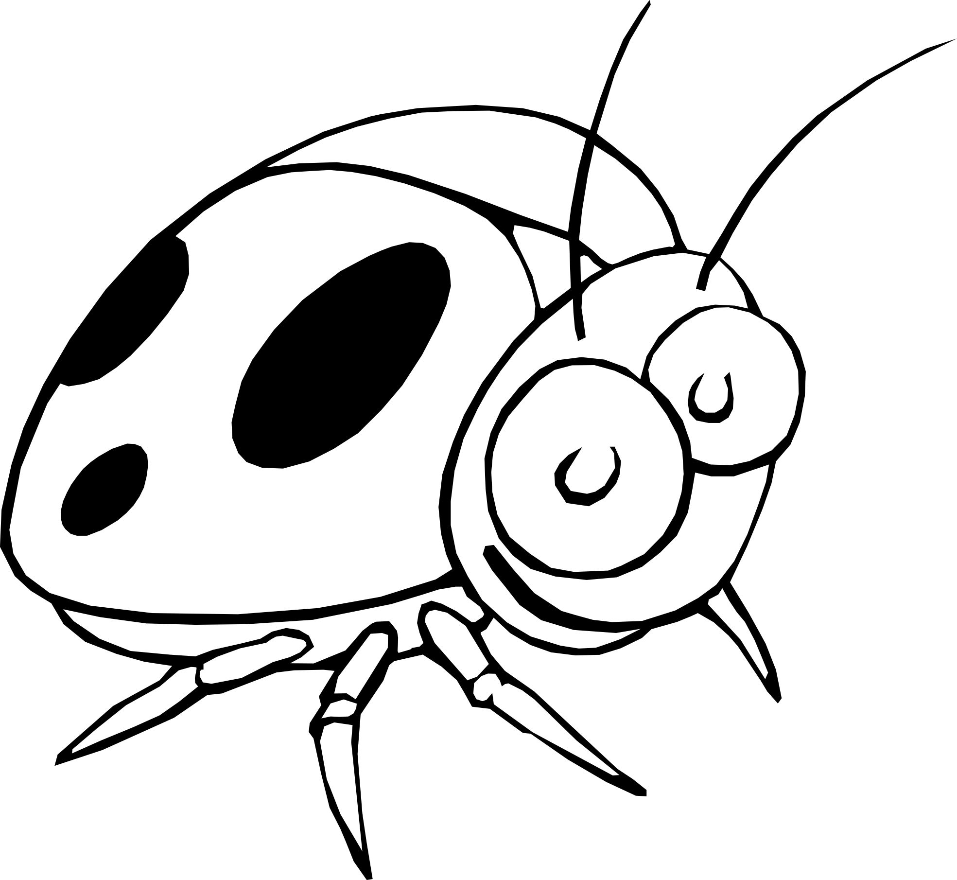 ladybug drawing black and white clipart panda free clipart images