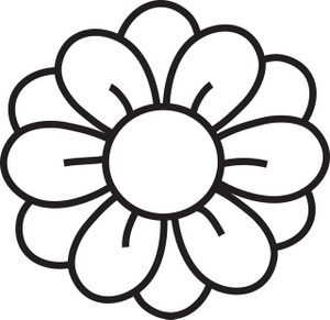 Clip Art Flowers Clipart Black And White simple flower clipart black and white panda free