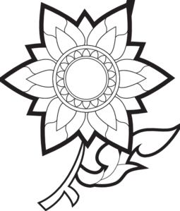 simple%20flowers%20clipart%20black%20and%20white