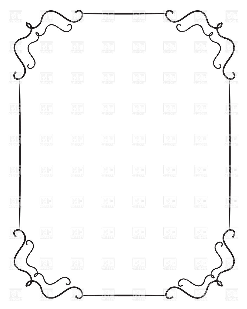 Frame Design Line Art : Simple frame clipart panda free images