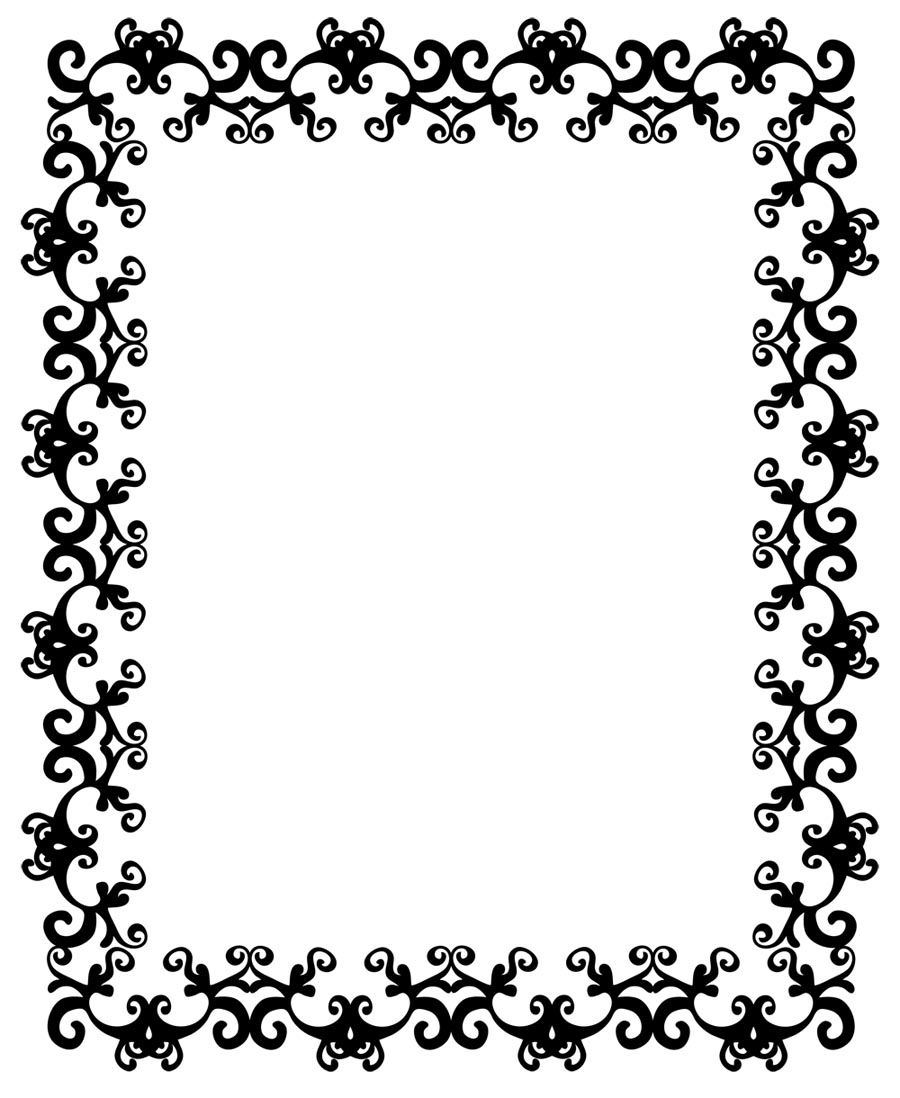 Simple frame designs clipart panda free clipart images for Cool picture frame designs