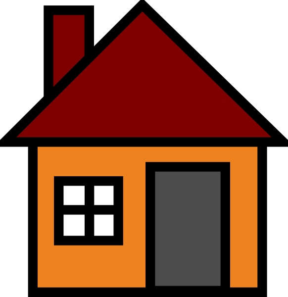 Simple house clipart clipart panda free clipart images for Houses images pictures