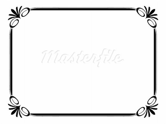 Border Line Design Clipart : Simple frame designs clipart panda free images