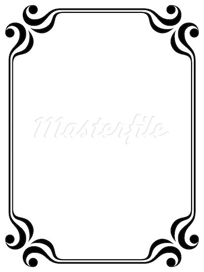 Line Art Border Design : Simple line border clipart panda free