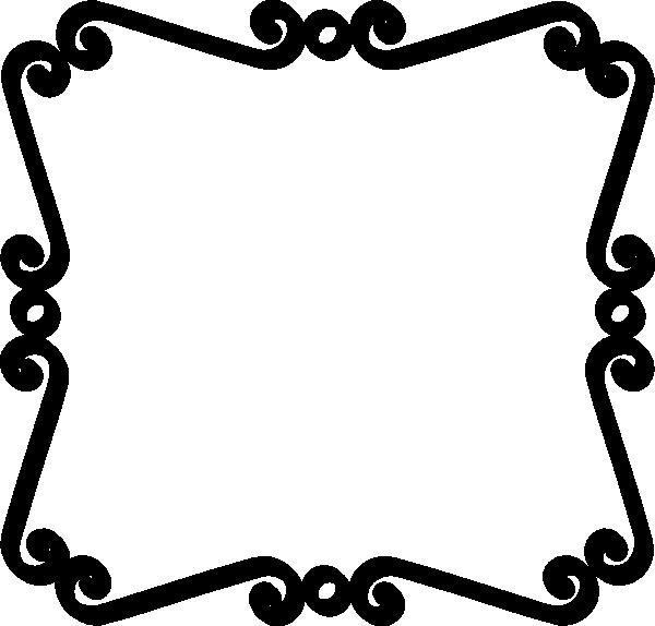 Clip Art Straight Line Scroll : Black scroll border clip art clipart panda free