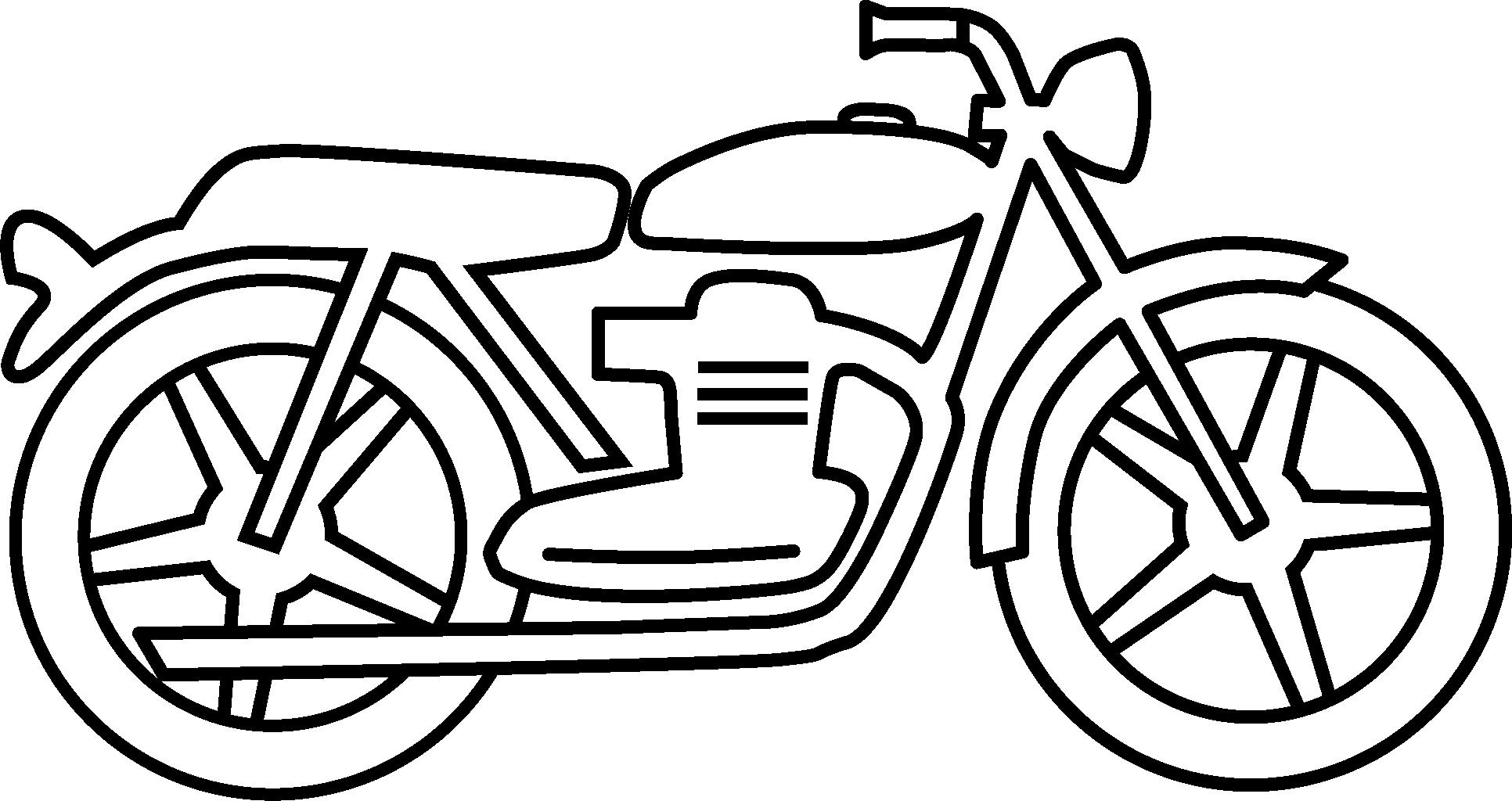 Jpg To Line Drawing : Simple motorcycle clipart panda free