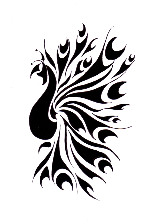 Simple peacock feather tattoo designs - photo#8