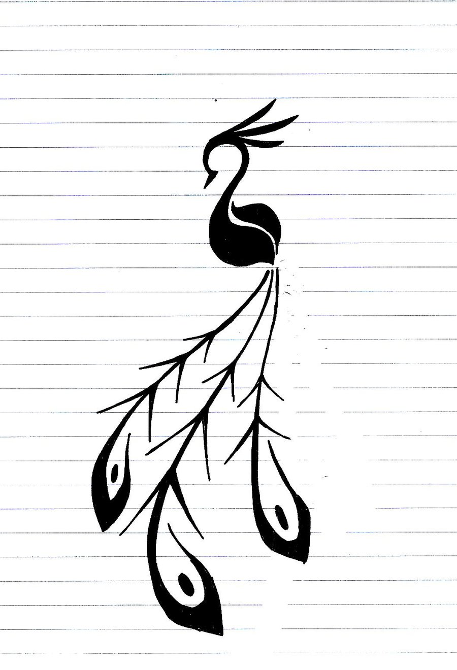 Simple Peacock Feather Design | Clipart Panda - Free ...