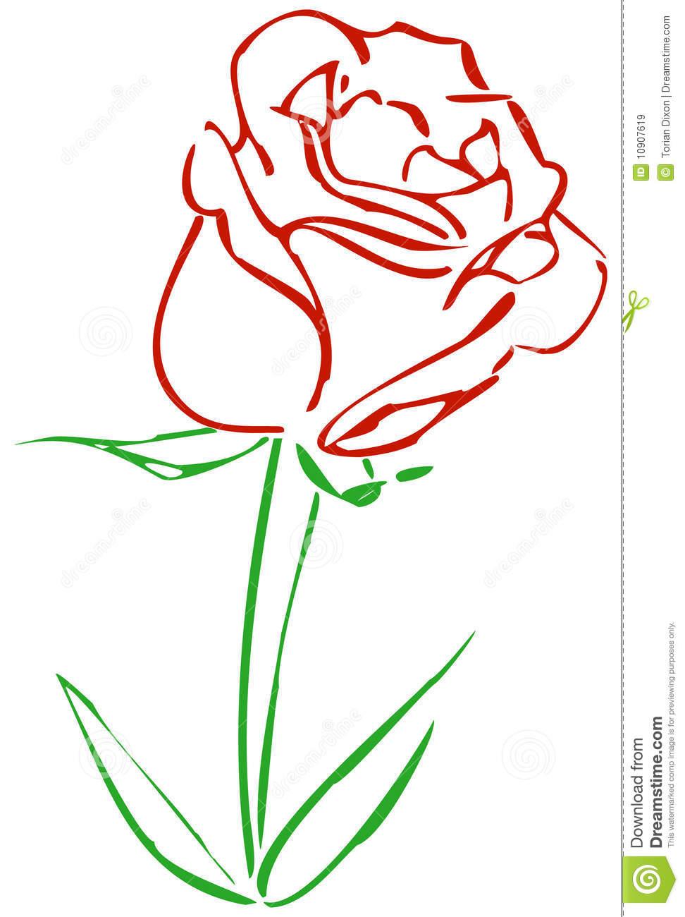 Simple Rose Clip Art   Clipart Panda - Free Clipart Images