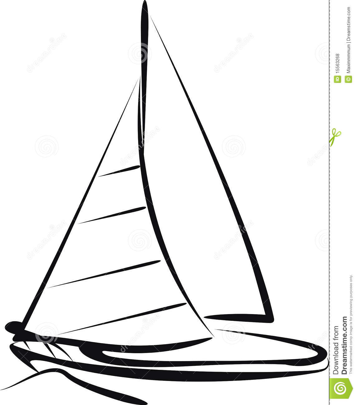 Line Drawing Yacht : Simple sailboat drawing clipart panda free images
