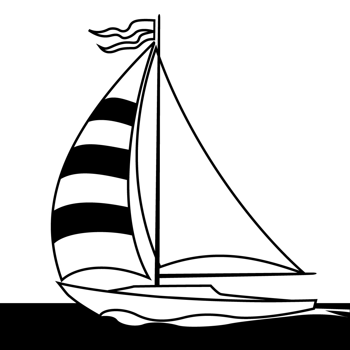 simple 20sailboat 20drawing  Yacht Clipart