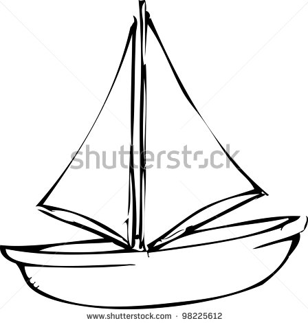 Simple Drawings Of Boats on sail cartoon clip art
