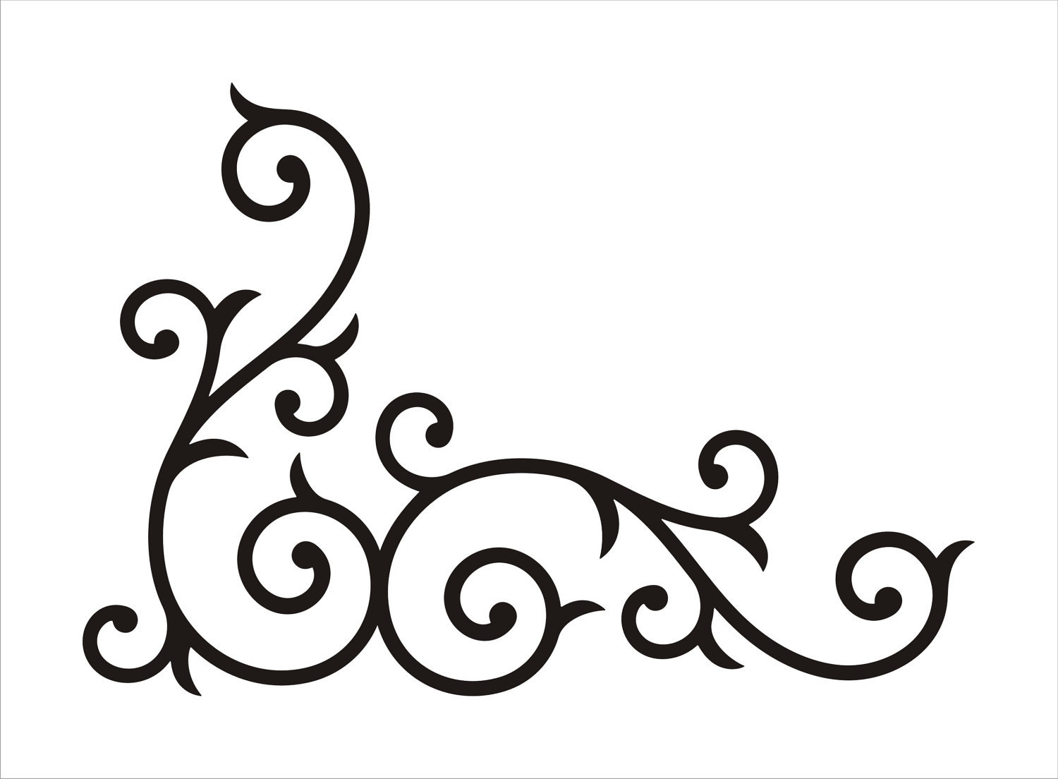 Simple Swirl Designs Stencils : Simple swirls black clipart panda free images
