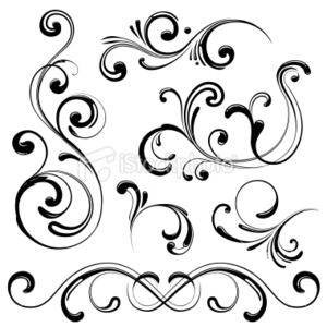 Corner Swirls Design