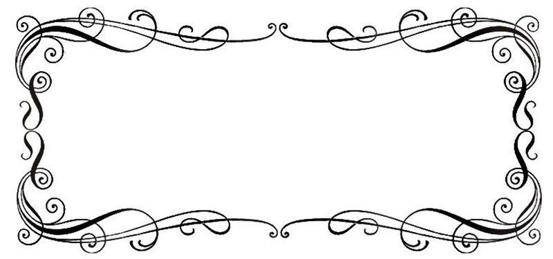 Single Line Borders Clip Art : Single line border clipart panda free