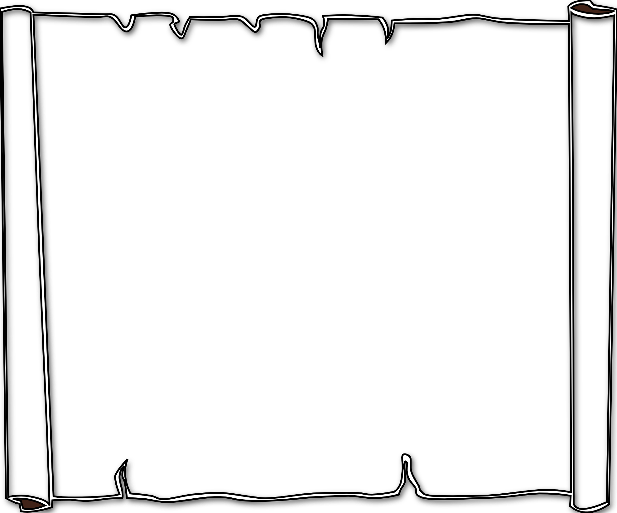 Single Line Borders Clip Art : Single line border black and white pixshark