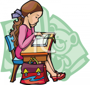 Girl Homework Clipart | Clipart Panda - Free Clipart Images