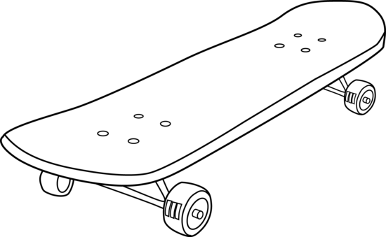 Skateboard Clipart Black And White | Clipart Panda - Free ...