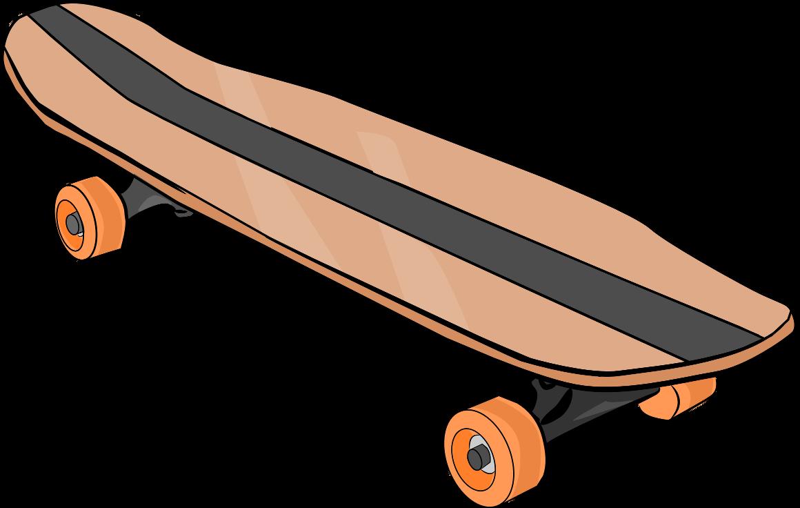 Skateboard Clip Art Black And White skateboard clipart
