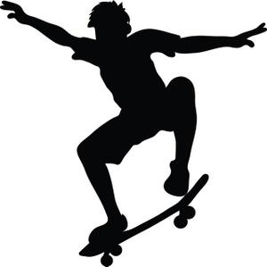 Skateboard Clip Art Black And White Skateboard Clipart | C...
