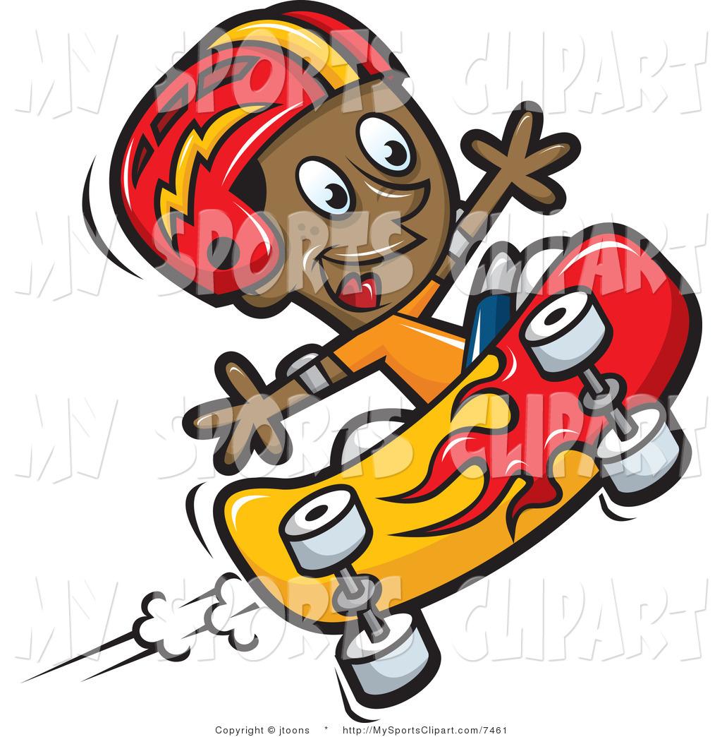skateboard-clipart-sports-clip-art-of-a-boy-skateboarding-by-jtoons ...