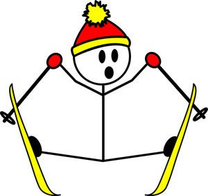 This skiing clip art image is